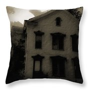 A Haunting Throw Pillow