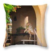 A Horsey Find Throw Pillow