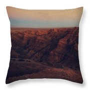A Hot Desert Evening Throw Pillow