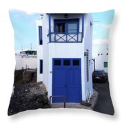 A House In El Golfo Throw Pillow