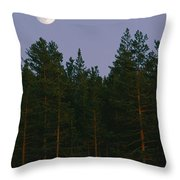 A Huge Moon, With Features Clearly Throw Pillow