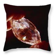 A Huge Nine-carat Diamond Glistens Throw Pillow