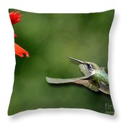 A Hummingbird With Dimension Throw Pillow
