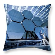 A James Webb Space Telescope Array Throw Pillow