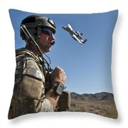 A Joint Terminal Attack Controller Uses Throw Pillow