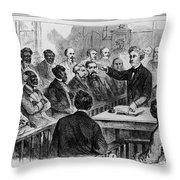 A Jury Of Whites And Blacks Throw Pillow