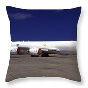A Kc-135 Stratotanker At Hickham Air Throw Pillow