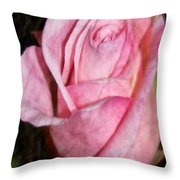 A Kiss By A Rose Throw Pillow