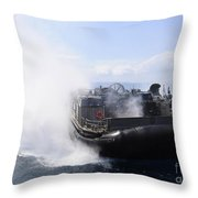A Landing Craft Air Cushion Travels Throw Pillow