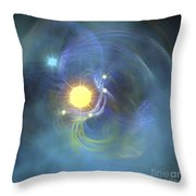 A Large Sun Is Veiled By Surrounding Throw Pillow