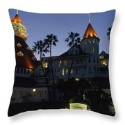 A Late Afternoon View Of The Hotel De Throw Pillow