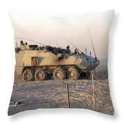 A Lav IIi Infantry Fighting Vehicle Throw Pillow