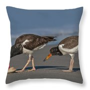 A Lesson In Fine Dinning Throw Pillow by Susan Candelario