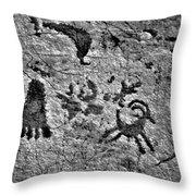 A Library Of Petroglyphs - Atlatl Rock Throw Pillow