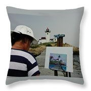 A Light Artist Throw Pillow