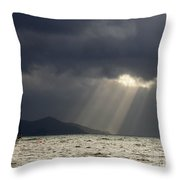 A Light In The Storm Throw Pillow