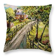 A Light Summer Breeze Throw Pillow