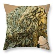 A Lion In Summer Throw Pillow