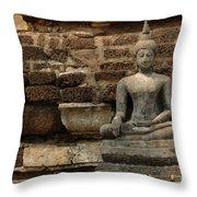 A Little Buddha Throw Pillow
