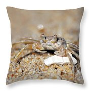 A Little Crabby Throw Pillow