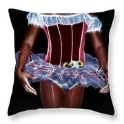 A Little Lady In A Tutu Throw Pillow