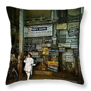A Lobby In Mumbai Throw Pillow