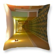 A Long Hallway Flipped Sideways Throw Pillow