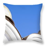A Low Angle Shot Of A White Church Throw Pillow