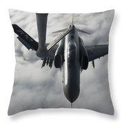 A Luftwaffe F-4f Phantom II Approaches Throw Pillow