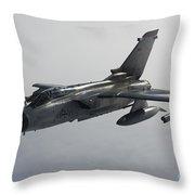 A Luftwaffe Tornado Ecr Over Northern Throw Pillow