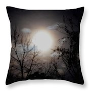 A Lunar Silhouette Throw Pillow