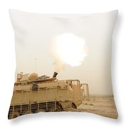 A M120 Mortar System Is Fired Throw Pillow