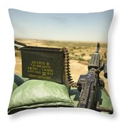 A M240b Medium Machine Gun Throw Pillow