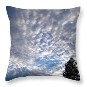 A Mackerel Sky Throw Pillow