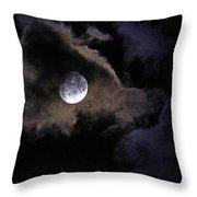 A Magical Moon Throw Pillow