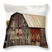 A Mail Pouch Barn In West Virginia Throw Pillow