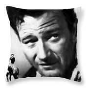 A Man Goes His Way Throw Pillow