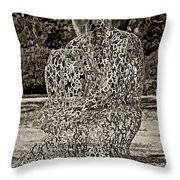 A Man Of Letters Sepia Throw Pillow
