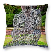 A Man Of Letters Throw Pillow