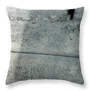A Man Walked Visible From Above Throw Pillow