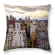 A Manhattan View Throw Pillow