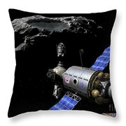 A Manned Maneuvering Vehicle Undocks Throw Pillow