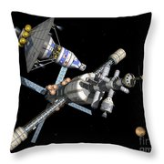 A Manned Mars Landerreturn Vehicle Throw Pillow