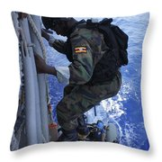 A Marine From The Uganda People's Throw Pillow