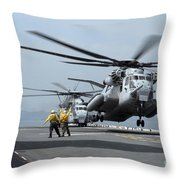 A Marine Mh-53 Helicopter Takes Throw Pillow