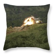 A Marine Scores A Direct Hit While Throw Pillow