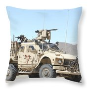 A Marine Sniper Provides Security Throw Pillow