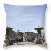 A Marine Unmanned Aerial Vehicle Throw Pillow