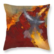 A Meeting Of Monks Throw Pillow