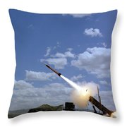 A Mim-104 Patriot Anti-aircraft Missile Throw Pillow